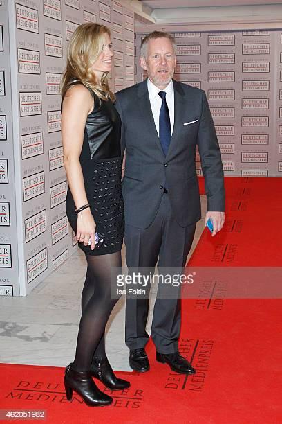 Britta Becker and Johannes B Kerner attend the German Media Award 2015 on January 23 2015 in BadenBaden Germany