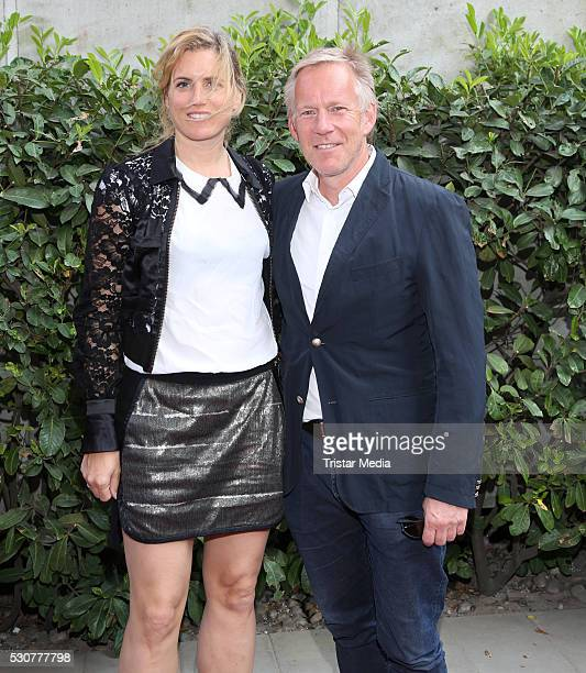 Britta BeckerKerner and her husband Johannes B Kerner attend the 'Nathan Sawaya The Art Of The Brick' Exhibition Opening on May 11 2016 in Hamburg...