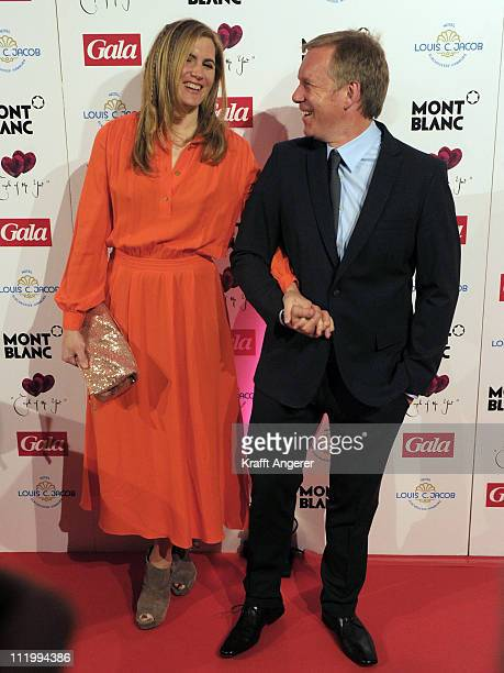 Britta BeckerKerner and Johannes B Kerner attend the Couple Of The Year event on April 11 2011 in Hamburg Germany