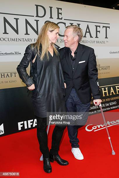 Britta BeckerKerner and Johannes B Kerner attend the 'Die Mannschaft' Premiere at Sony Centre on November 10 2014 in Berlin Germany