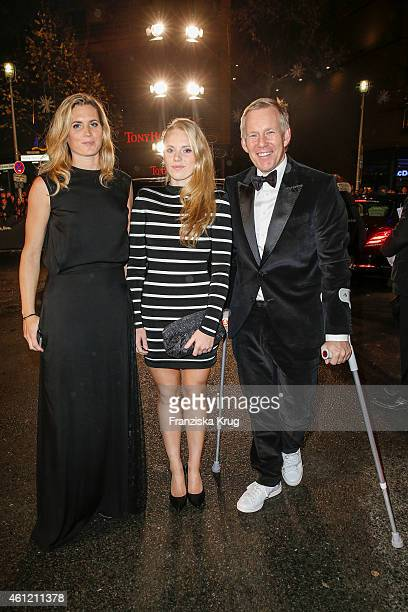 Britta BeckerKerner daughter Emily Kerner and Johannes B Kerner arrive at the Bambi Awards 2014 on November 13 2014 in Berlin Germany
