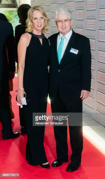 Britta Gessler and Frank Elstner are seen during the German Media Award 2016 at Kongresshaus on May 25, 2017 in Baden-Baden, Germany. The German...