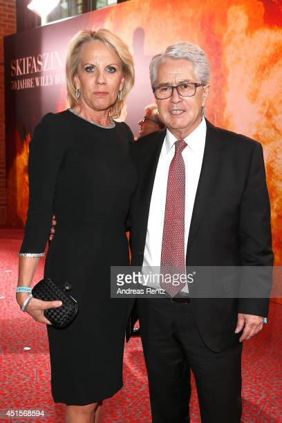 Britta Gessler and Frank Elstner attend the Arthur Cohn Gala as part of Filmfest Muenchen 2014 at CarlOrffSaal on July 1 2014 in Munich Germany