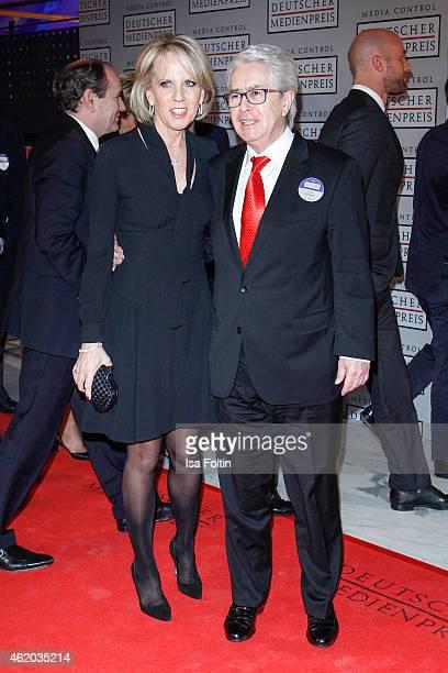 Britta Gessler and Frank Elstner attend the German Media Award 2015 on January 23, 2015 in Baden-Baden, Germany.