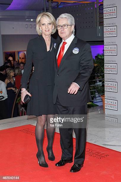 Britta Gessler and Frank Elstner attend the German Media Award 2015 on January 23 2015 in BadenBaden Germany