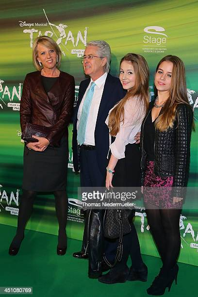 Britta Gessler Frank Elstner Enya and Lena attend the green carpet arrivals for the Stuttgart Premiere of the musical 'Tarzan' at Stage Apollo...