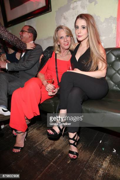 Britta Gessler wife of Frank Elstner and daughter Enya Elstner during the New Faces Award Style 2017 at 'The Grand' hotel on November 15 2017 in...