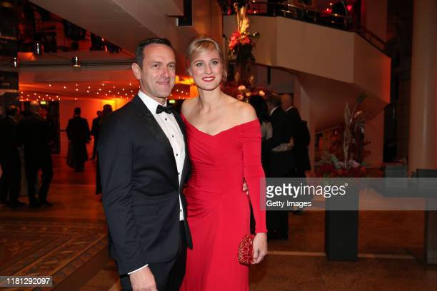 Britta Heidemann and her boyfriend Matthias Dolderer during the German Sports Media Ball at Alte Oper on November 9, 2019 in Frankfurt am Main,...