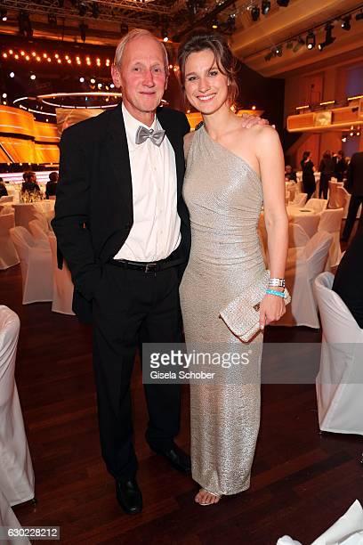 Britta Heidemann and her father Reinhard Heidemann during the 'Sportler des Jahres 2016' Gala at Kurhaus on December 18, 2016 in Baden-Baden, Germany.