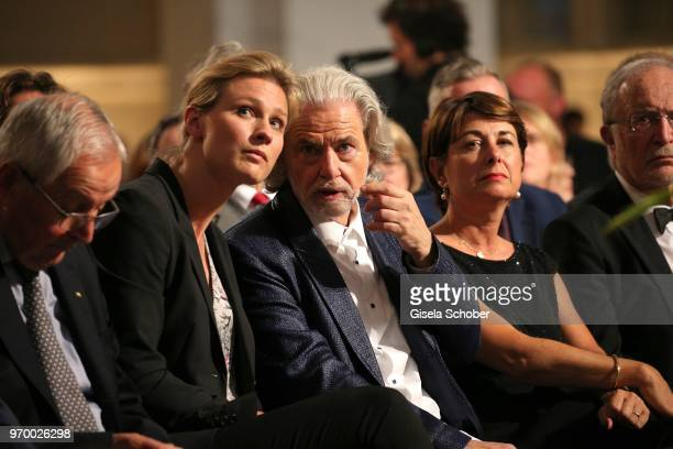 Britta Heidemann and Hermann Buehlbecker CEO Lambertz during the European Culture Awards TAURUS 2018 at Dresden Frauenkirche on June 8 2018 in...