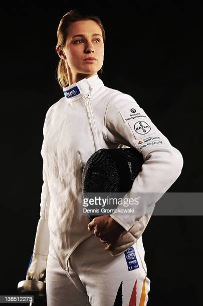 Britta Heidemann of Germany poses during a portrait session on January 6, 2012 in Cologne, Germany.