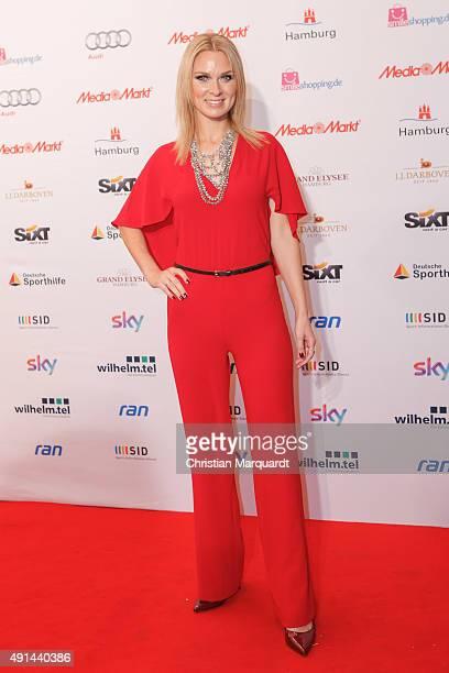 Britta Hofmann attends the Deutscher Sportjournalistenpreis 2015 at Grand Elysee Hotel on October 5 2015 in Hamburg Germany