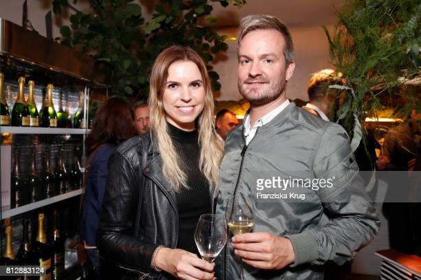Britta Kroepke and Roland Roedermund attend the 'Krug Kiosk' Event on July 11 2017 in Hamburg Germany