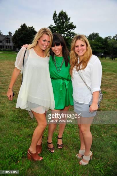 Britta Losgren Ariel Moses and Emma Rathe attend HEAT honoring Donna Karan Steven Klein and Hope Klein Langer at Steven Klein's home West Kill Farm...