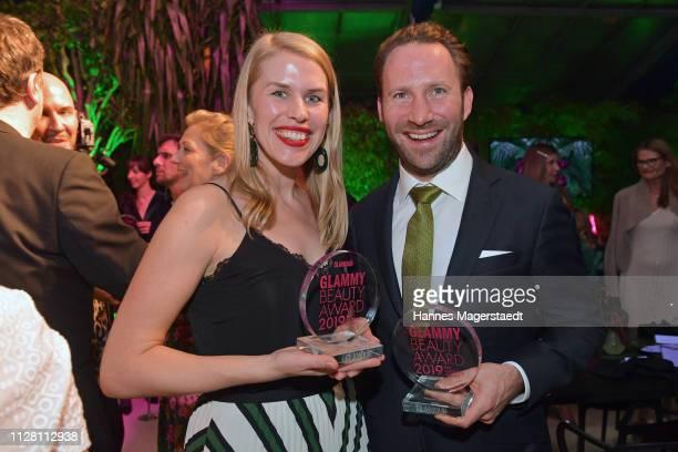 Britta Schiefelbein and Matthias Baurecht the Glammy Award on February 07, 2019 in Munich, Germany.