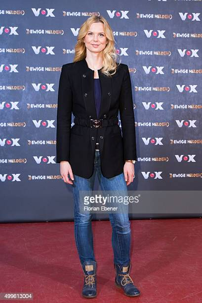 Britta Steffen attends a photo call for the new tv show 'Ewige Helden' on December 2 2015 in Cologne Germany
