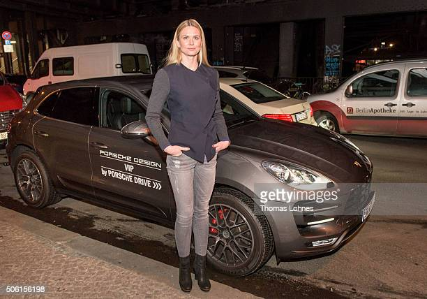 Britta Steffen attends the Porsche Design Show Fall/Winter 2016 Fashion Presentation at Bar Tausend on January 21 2016 in Berlin Germany