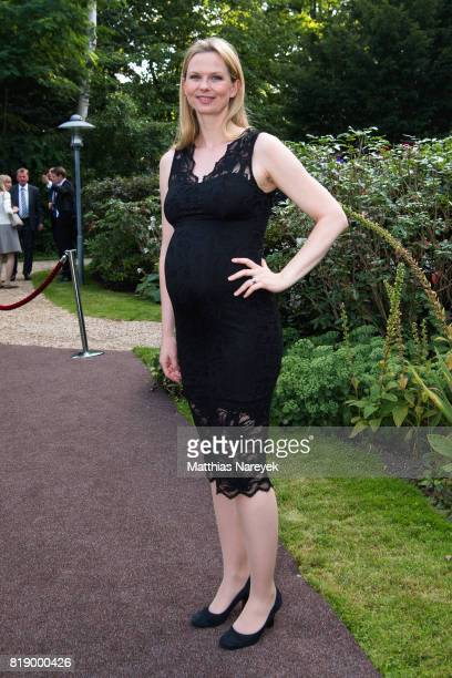 Britta Steffen attends The Queen's Birthday Party at the British Ambassadorial Residence on the first day of the royal couples visit to Germany on...