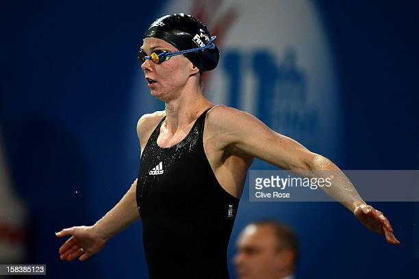 Britta Steffen of Germany prepares to compete in the Women's 100m Freestyle Final during day three of the 11th FINA Short Course World Championships...