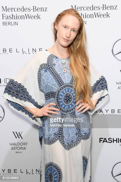 Britta Thie attends the Odeur show during the MercedesBenz Fashion Week Berlin Spring/Summer 2018 at Kaufhaus Jandorf on July 7 2017 in Berlin Germany