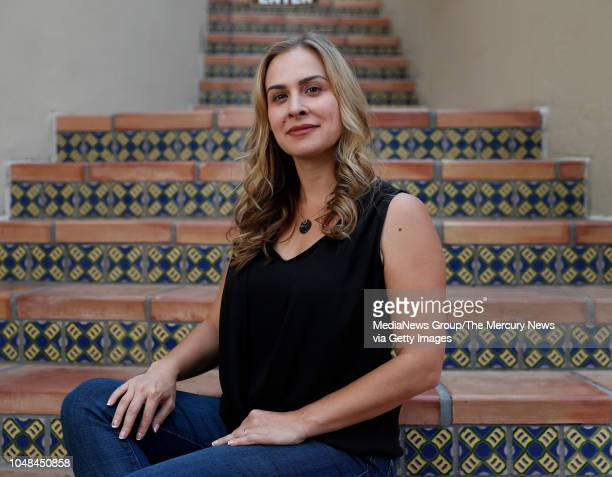 Brittan Heller, director of technology and society for the Anti-Defamation League, poses for a photograph in downtown Palo Alto, Calif., on Monday,...