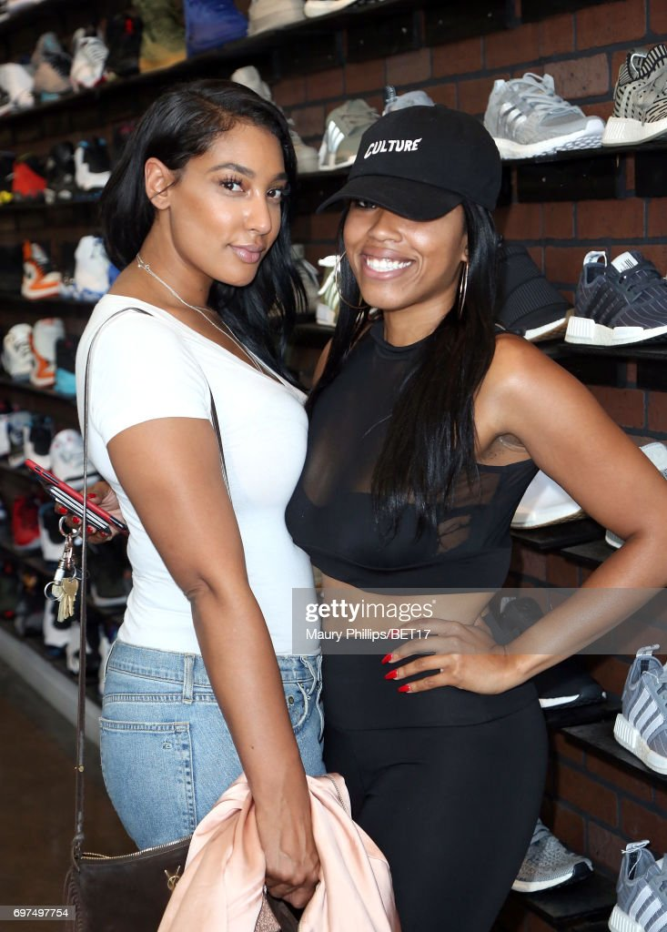 Brittani Treadwell and Jennifer Duval attend BETX Pop Up at Cool Kicks on June 18, 2017 in Los Angeles, California.