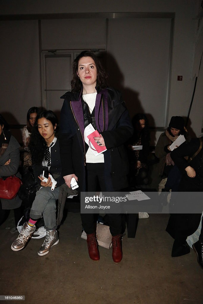 Brittany Adams from style.com attends the A Detacher fall 2013 fashion show during Mercedes-Benz Fashion Week at Pier 59 Studios on February 8, 2013 in New York City.