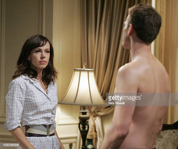 """Brittany Allen and Adam Mayfield in a scene that airs the week of August 9, 2010 on Walt Disney Television via Getty Images Daytime's """"All My..."""