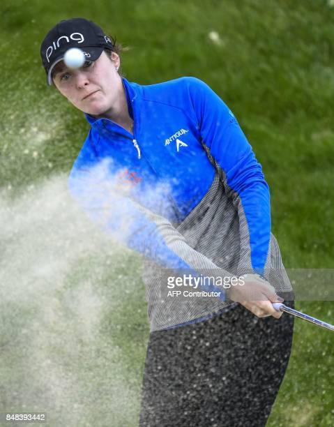 Brittany Altomare from United States competes on September 17 2017 during the Evian Championship in the French Alps town of EvianlesBains a major...