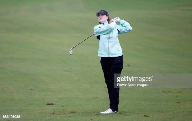 Brittany Altomare of the USA hits a shot on the 12th hole during day two of the Swinging Skirts LPGA Taiwan Championship on October 20 2017 in Taipei...