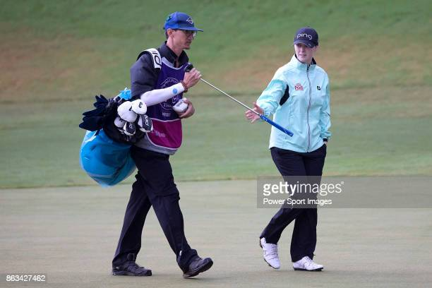 Brittany Altomare of the USA walks on the 17th green during day two of the Swinging Skirts LPGA Taiwan Championship on October 20 2017 in Taipei...