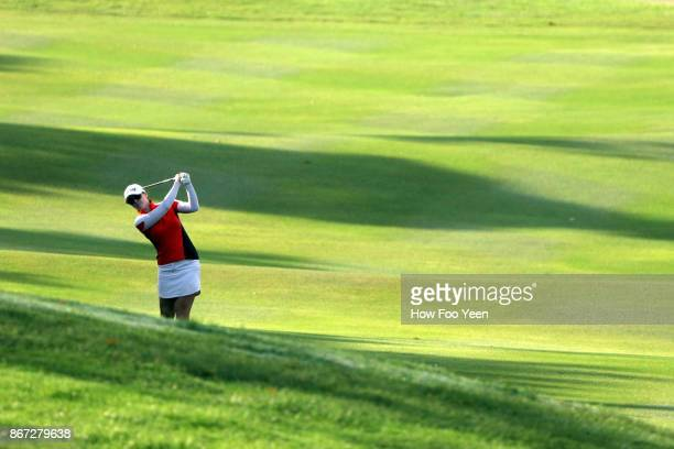 Brittany Altomare of USA in action during day three of the Sime Darby LPGA Malaysia at TPC Kuala Lumpur East Course on October 28 2017 in Kuala...