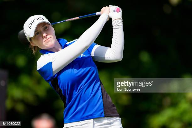 Brittany Altomare tees off on the 1st hole during the final round of the Canadian Pacific Women's Open on August 27 2017 at The Ottawa Hunt and Golf...