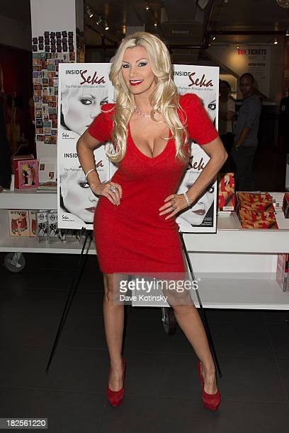 Brittany Andrews promotes Inside Seka at the Museum of Sex on September 30 2013 in New York City