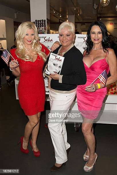 """Brittany Andrews, Seka and Rita Daniels promotes """"Inside Seka"""" at the Museum of Sex on September 30, 2013 in New York City."""