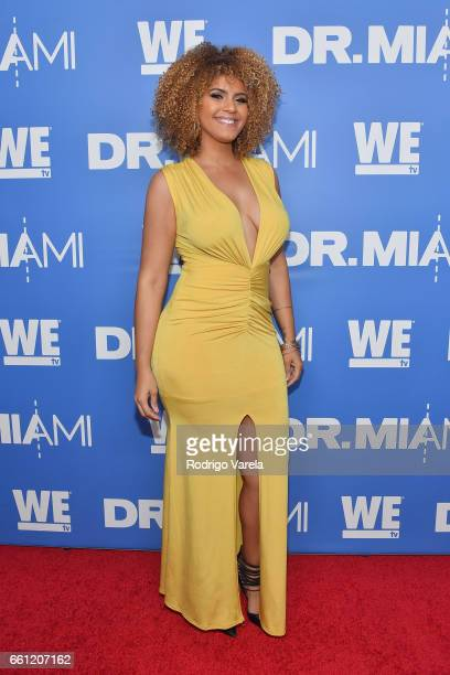 Brittany arrives at WE tv's Premiere Party for Their New Show Dr Miami at the Tuck Room in North Miami Beach on March 30 2017 in North Miami Beach...