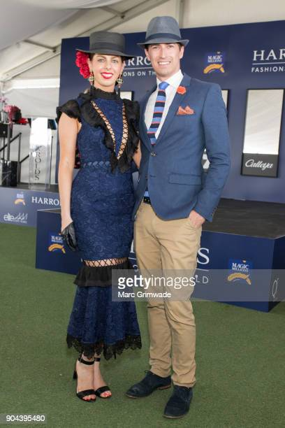 Brittany Baldwin and Mitchell Clough and attend Magic Millions Raceday on January 13 2018 in Gold Coast Australia