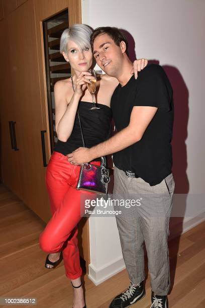 Brittany Barnato and Robbie Cantonwine attend Brian Feit's 40th Birthday Party at 550 West 29th Street on July 19 2018 in New York City