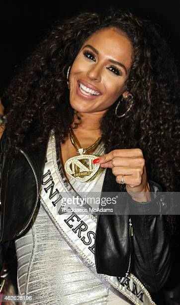 Brittany Bell at The Maxim Superbowl party on January 31 2015 in Scottsdale Arizona