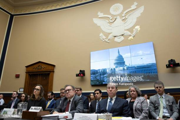 Brittany Bolen, Associate Administrator for the Office of Policy, EPA Administrator Andrew Wheeler and David Bloom Acting Financial Officer EPA on...
