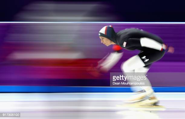 Brittany Bowe of The United States competes during the Ladies 1,500m Long Track Speed Skating final on day three of the PyeongChang 2018 Winter...