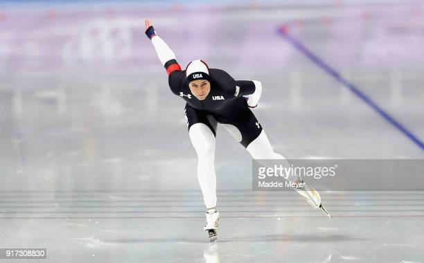 Brittany Bowe of The United States competes during the Ladies 1500m Long Track Speed Skating final on day three of the PyeongChang 2018 Winter...
