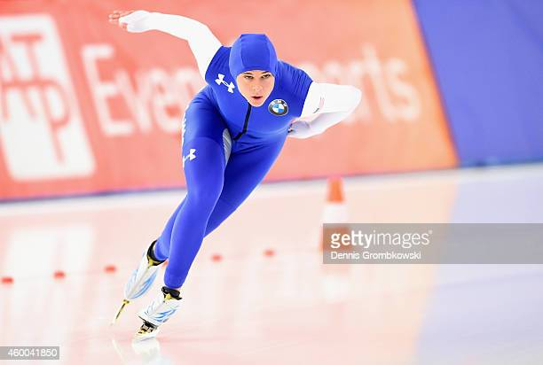 Brittany Bowe of the United States competes in the 1000m Ladies Division A race during Day 2 of the Essent ISU World Cup Speed Skating at Sportforum...