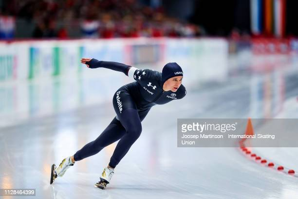 Brittany Bowe of the United States competes in the Ladies 1000m during day 3 of the ISU World Single Distances Speed Skating Championships at Max...