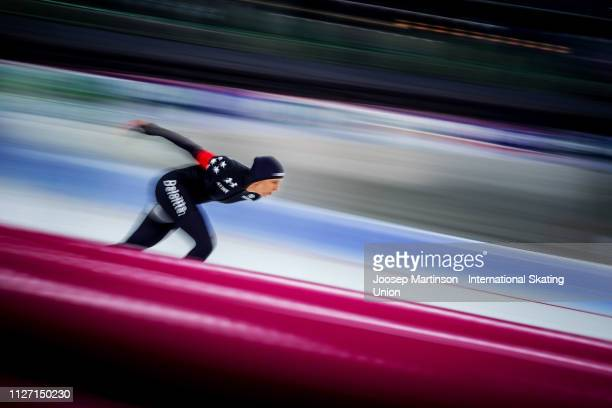Brittany Bowe of the United States competes in the Ladies 1500m during day 3 of the ISU World Cup Speed Skating Hamar at Hamar Olympic Hall on...