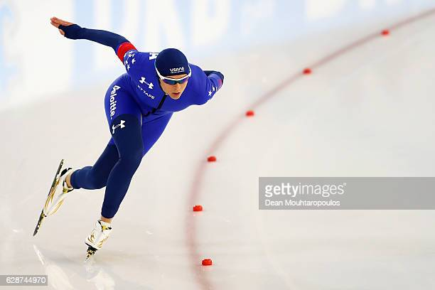 Brittany Bowe of the USA competes in the Women 500m on day 1 of the Speed Skating ISU World Cup on December 9 2016 in Heerenveen Netherlands
