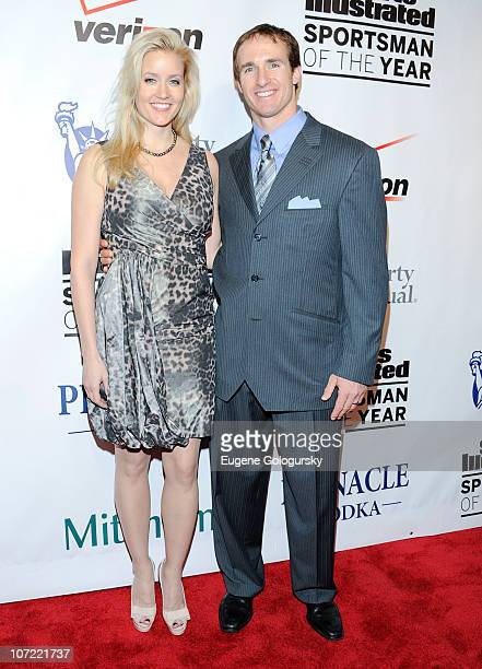 Brittany Brees and Drew Brees attend 2010 Sports Illustrated Sportsman of the Year Celebration - Arrivals at IAC Building on November 30, 2010 in New...