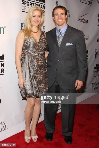 Brittany Brees and Drew Brees attend 2010 Sports Illustrated Sportsman Of The Year Award Presentation at The IAC Building on November 30 2010 in New...