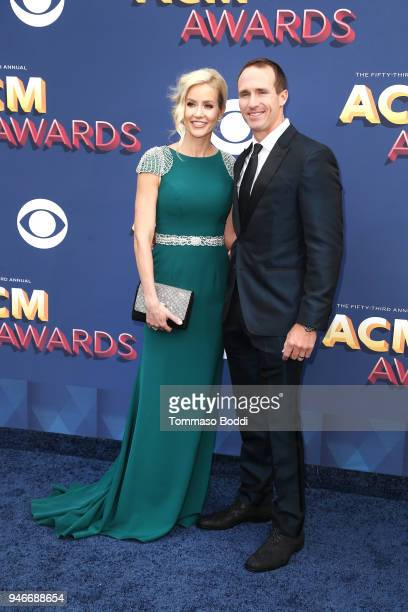 Brittany Brees and Drew Brees attend the 53rd Academy of Country Music Awards at MGM Grand Garden Arena on April 15, 2018 in Las Vegas, Nevada