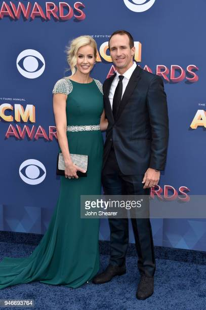 Brittany Brees and Drew Brees attend the 53rd Academy of Country Music Awards at MGM Grand Garden Arena on April 15, 2018 in Las Vegas, Nevada.